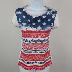 Blue Canyon Americana tee shirt.